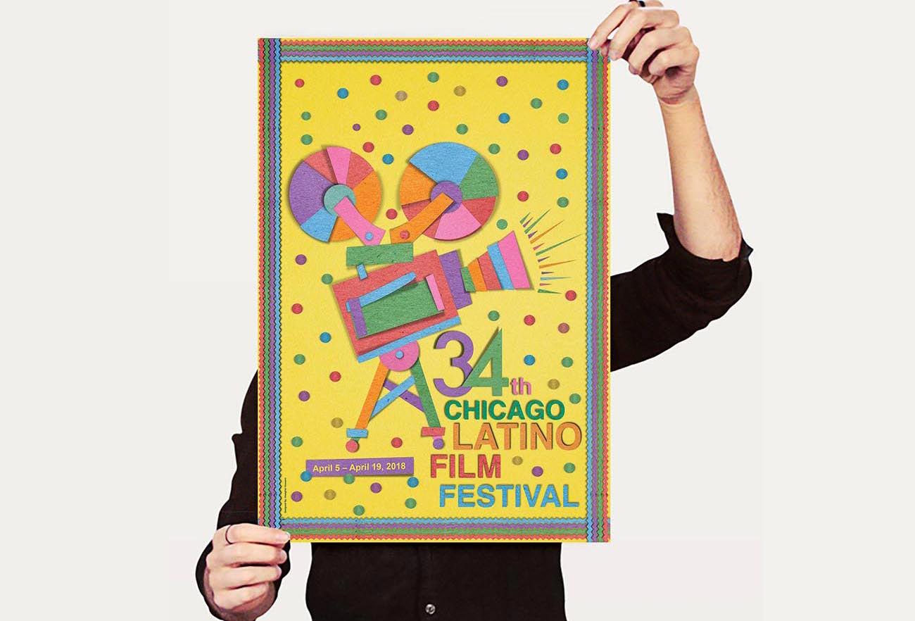 34th Chicago Latino Film FestivalPoster Design NXT ANCHOR Los Angeles
