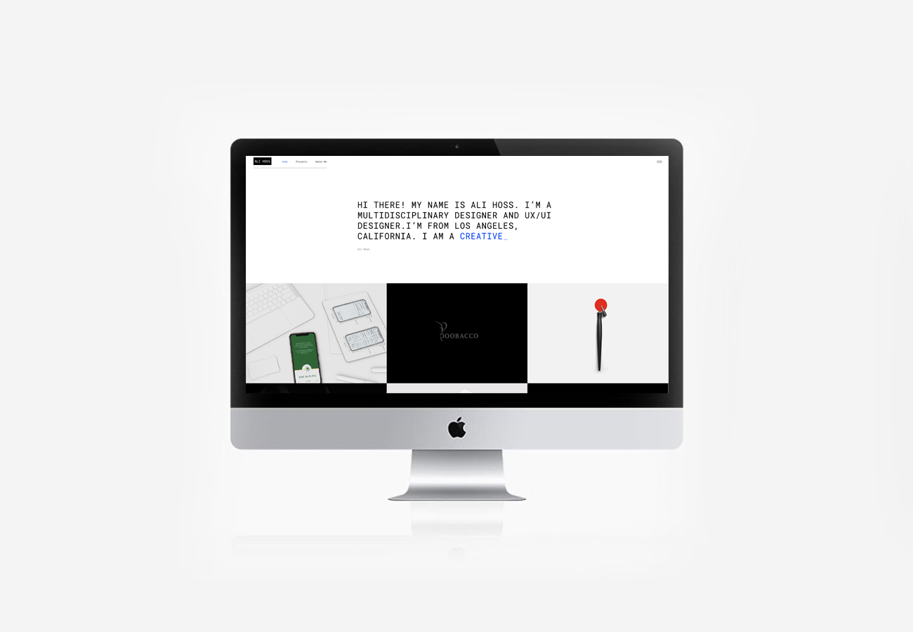 Ali Hoss Website Design NXT ANCHOR Los Angeles California