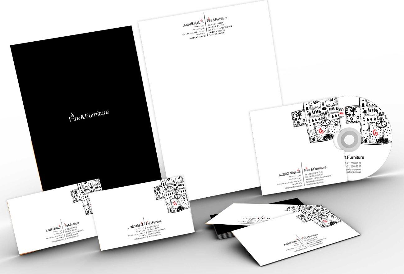 Fire and Furniture Brand Identity Design by Eraser Studio
