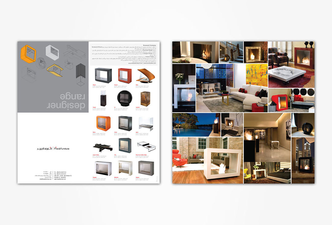 Fire and Furniture Brand Identity Design NXT ANCHOR Los Angeles
