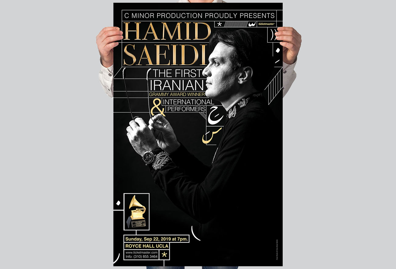 Hamid Saeid Concert Poster Design and Photography in Royce Hall los Angeles