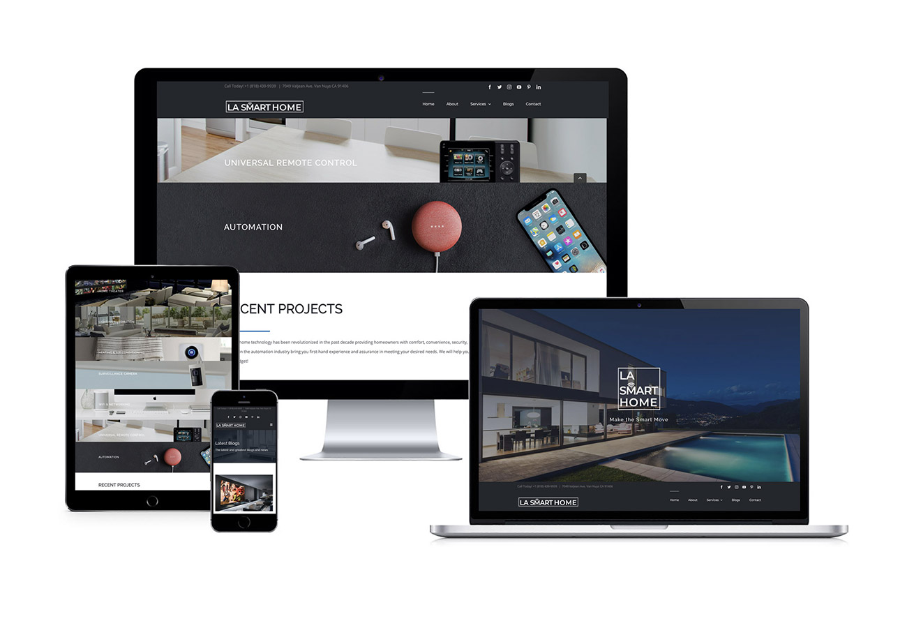 LA Smart Home Website Design By NXT ANCHOR Los Angeles