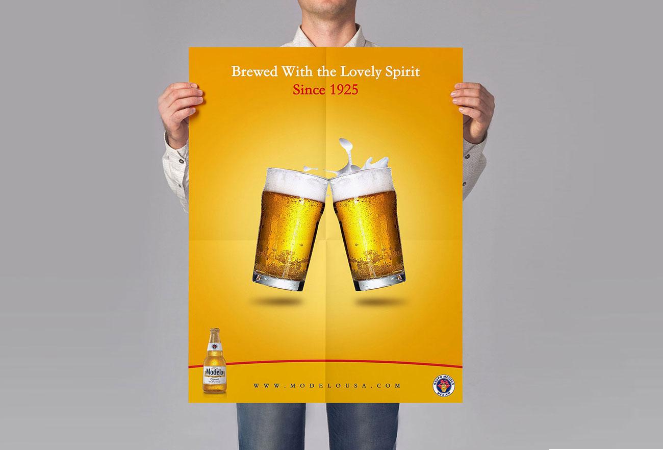 MODELO Espesial Beers Campaign Design by Eraser Studio -1