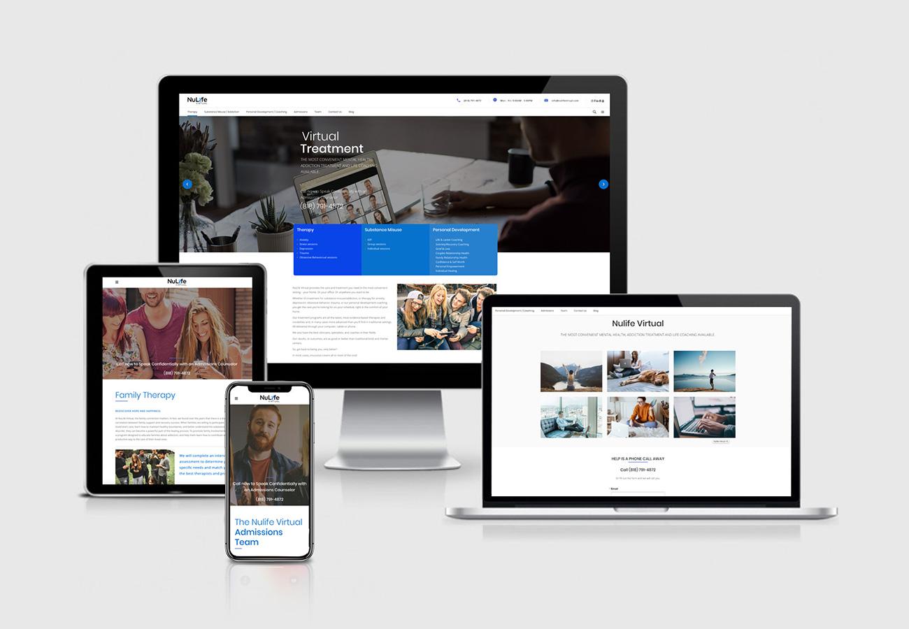 Nulife Virtual Website Design Los Angeles NXT ANCHOR